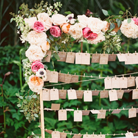 Floral Clothesline Escort Cards