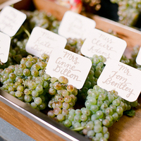Grape Escort Card Display