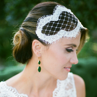 White Lace Headpiece