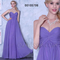 A-line Strapless Bridesmaid Dress