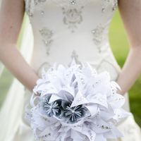 Crystal Embellished Paper Flowers