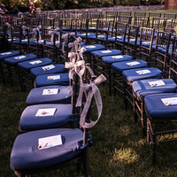Dark Blue Ceremony Seating