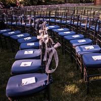 Dark Blue Ceremony Seating