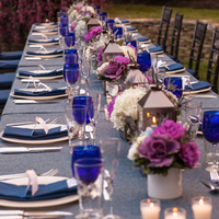 Blue and Purple Tablescapes