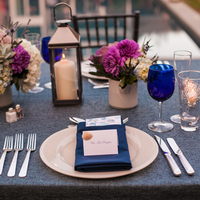 Blue and Purple Place Setting