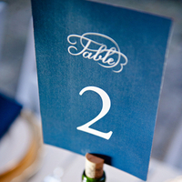 Dark Blue Table Number