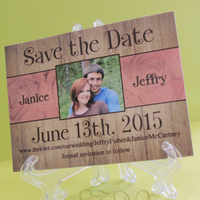 Wood + Rose save the date