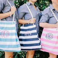 Preppy Monogram Tote Favors