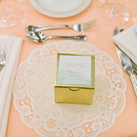Gold Wedding Favor Packaging