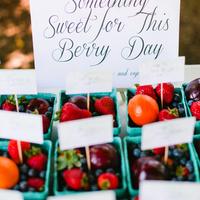 Summer Berry Wedding Favors
