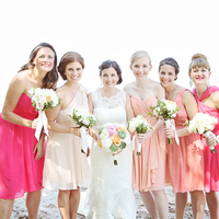 Pink Ombre Bridesmaid Dresses