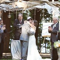 Samantha and Michael Kissing