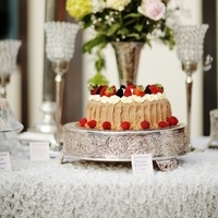 Berry-Topped Wedding Cake