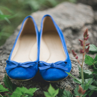 Christina's Blue Bridal Flats