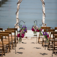 Bright Rustic Ceremony Decor