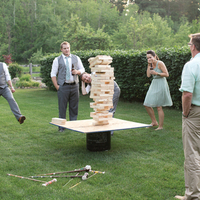 Wedding Party Playing Jenga
