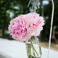 Hanging Pink Peony Arrangements