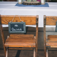 Chalkboard Chair Signs