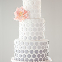 Ombre Dot Wedding Cake