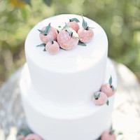 Sugar Peach Wedding Cake