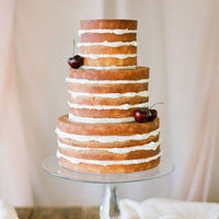 Naked Cake Topped with Cherries