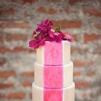 Hot Pink Watercolor Cake