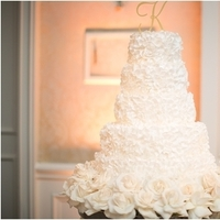 Classic Ruffled Wedding Cake