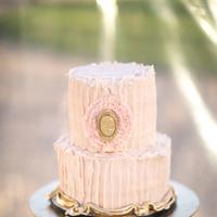 Ruffled Cameo Wedding Cake