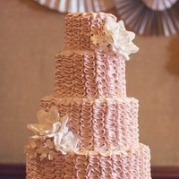 Blush Ruffled Cake