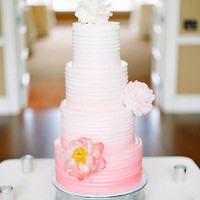Pink Ombre Buttercream Cake