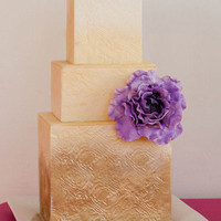 Gold Square Wedding Cake