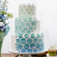 Modern Ombre Patterned Cake