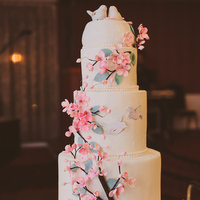 Whimsical Spring Wedding Cake