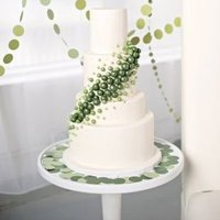 Whimsical Green Dot Cake