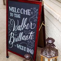 Walker Brillante Wedding Sign