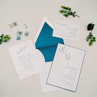 Teal and White Invitation Suite