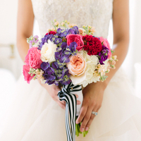 Peach, Pink, and Purple Bouquet