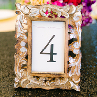 Carved Frame Table Numbers