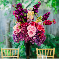 Tall Pink and Purple Centerpiece