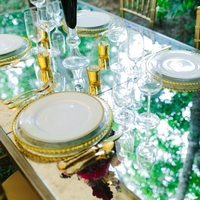 Mirror and Gold Tablescape