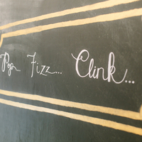 Black and Gold Cocktail Sign