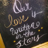 Glittery Chalkboard Sign