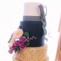 Black and Gold Glitter Cake