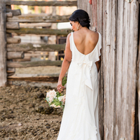 Melissa's Ruffled Back Gown