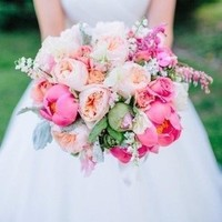 Garden Rose and Peony Bouquet
