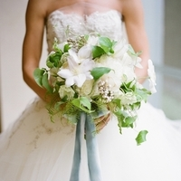 Clematis and Greenery Bouquet