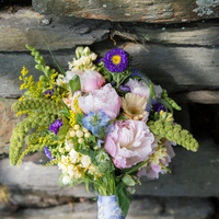 Wildflower and Peony Bouquet