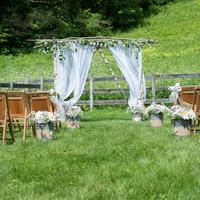 Rustic Outdoor Ceremony Decor