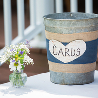 Rustic Card Bucket