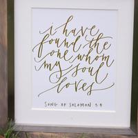 Gold Script Quote